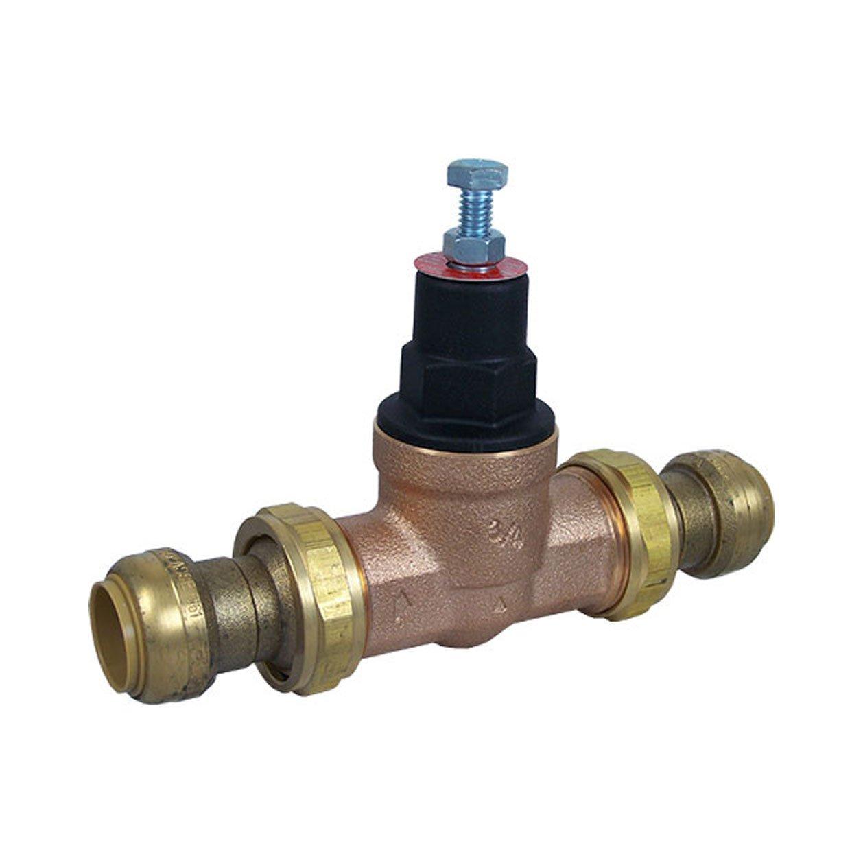 Cash Acme 23885-0045 Eb45-Du 3//4-Inch Double Union Threaded Pressure Regulating Valve Lead Free