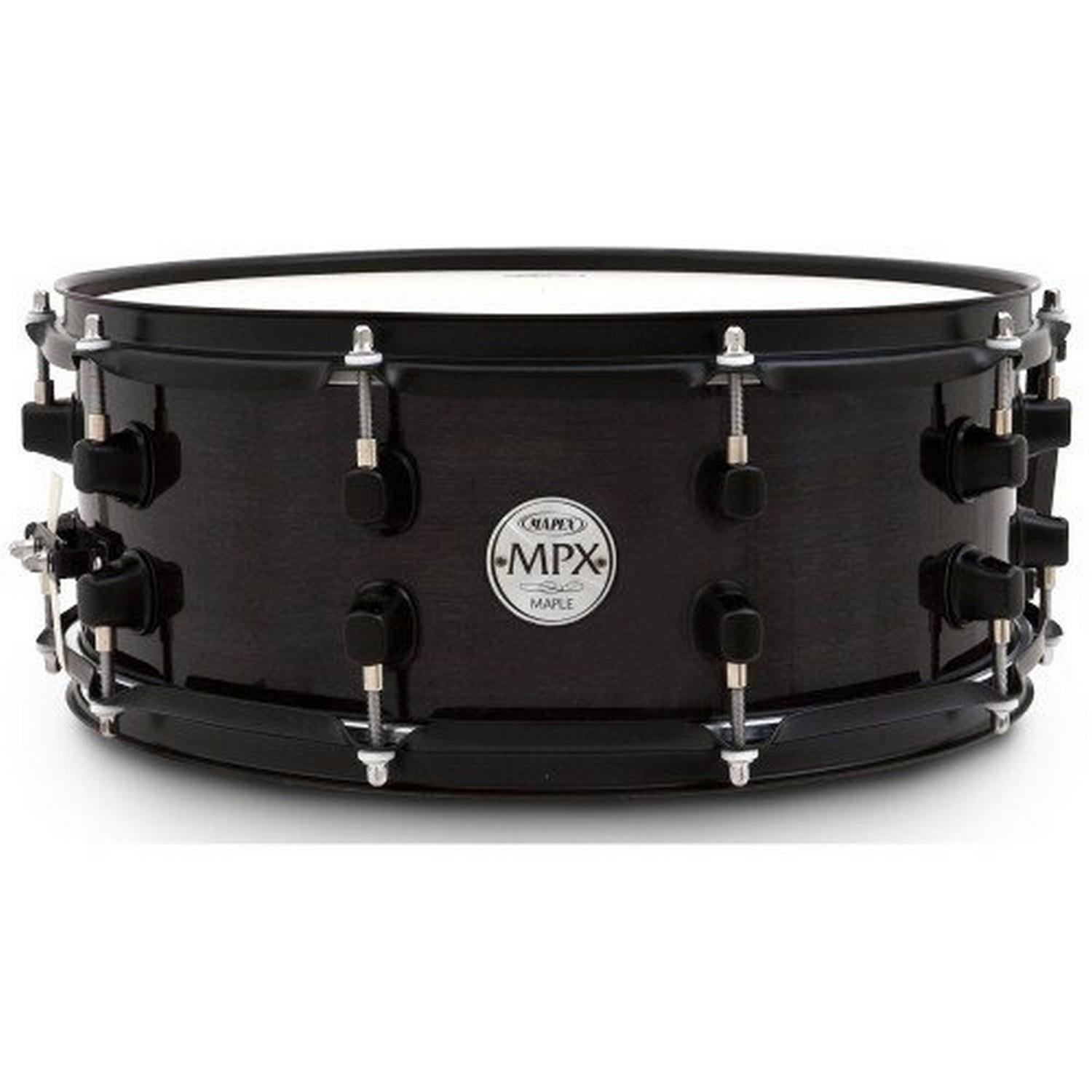Mapex MPX 13 inch x 06 inch all birch snare drum in natural lacquer finish with chrome hardware