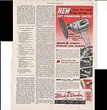 Black & Decker Portable Electric Tools Junior Sander 1950 Antique Advertisement
