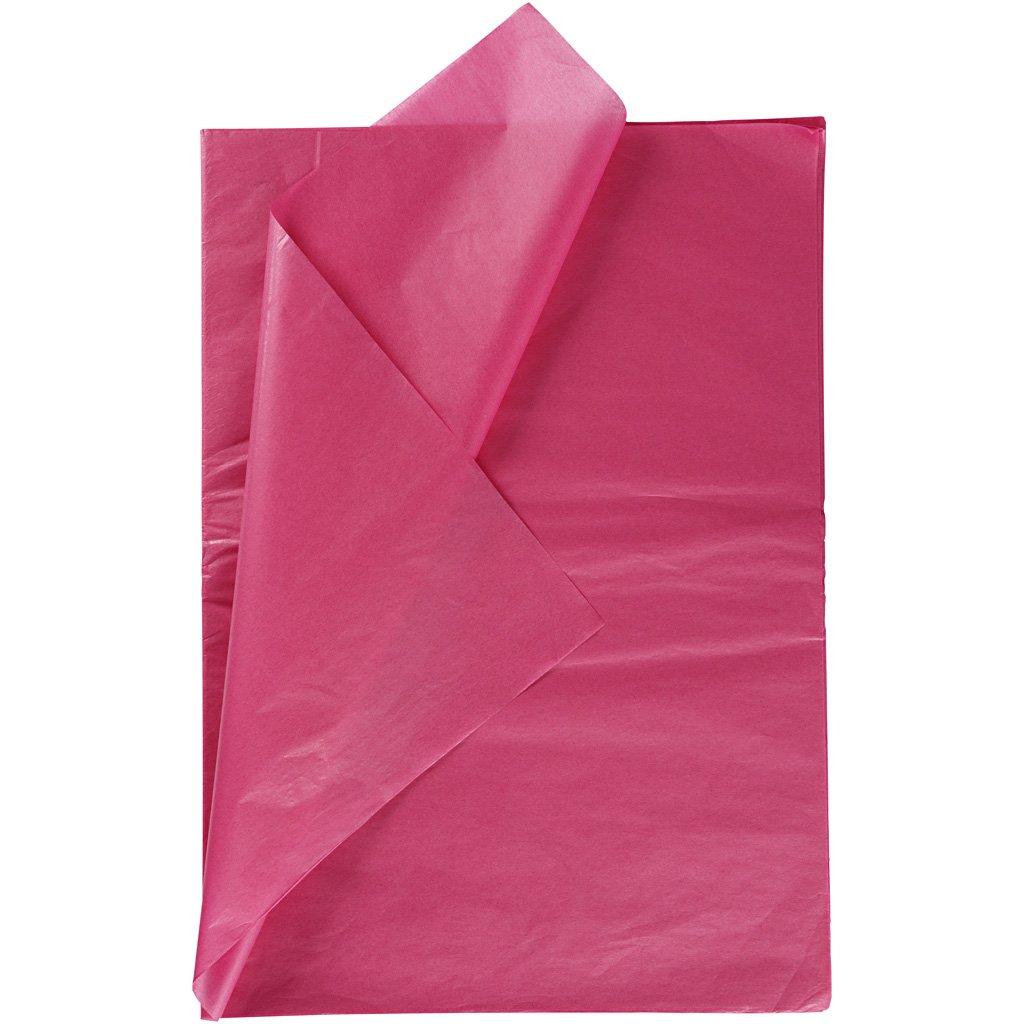 Carta velina, foglio 50x70 cm, 14 g, rosa, 25fogli Creativ Company