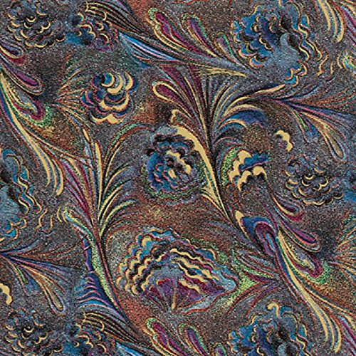 Marbled Peacock Feathers Glossy Gift Wrap Flat Sheet - 24