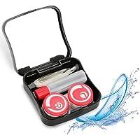 Yotown Caja de Lentes de Contacto, Mini Caja de Lentes de Contacto portátil con Espejo