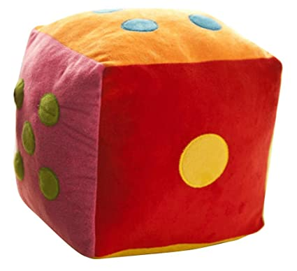 Remeehi Creative plush pillow ,Large Stuffed Dice Toy (Numbers)