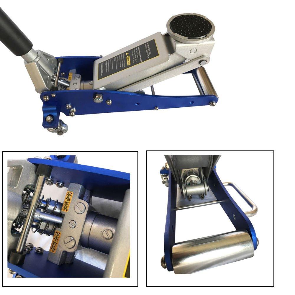 1.5 Ton 3000 Lb Aluminum Steel Racing Car Auto Floor Jack Low Profile Rapid Pump Lift