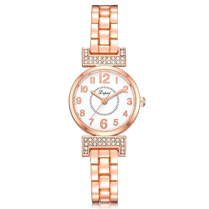 bc021302d2 Frauen Mädchen Damen Schöne Mode Kristall Damenuhr Kristall Diamant Armband  Quarz Armbanduhr Wrist Watch Steel Armband