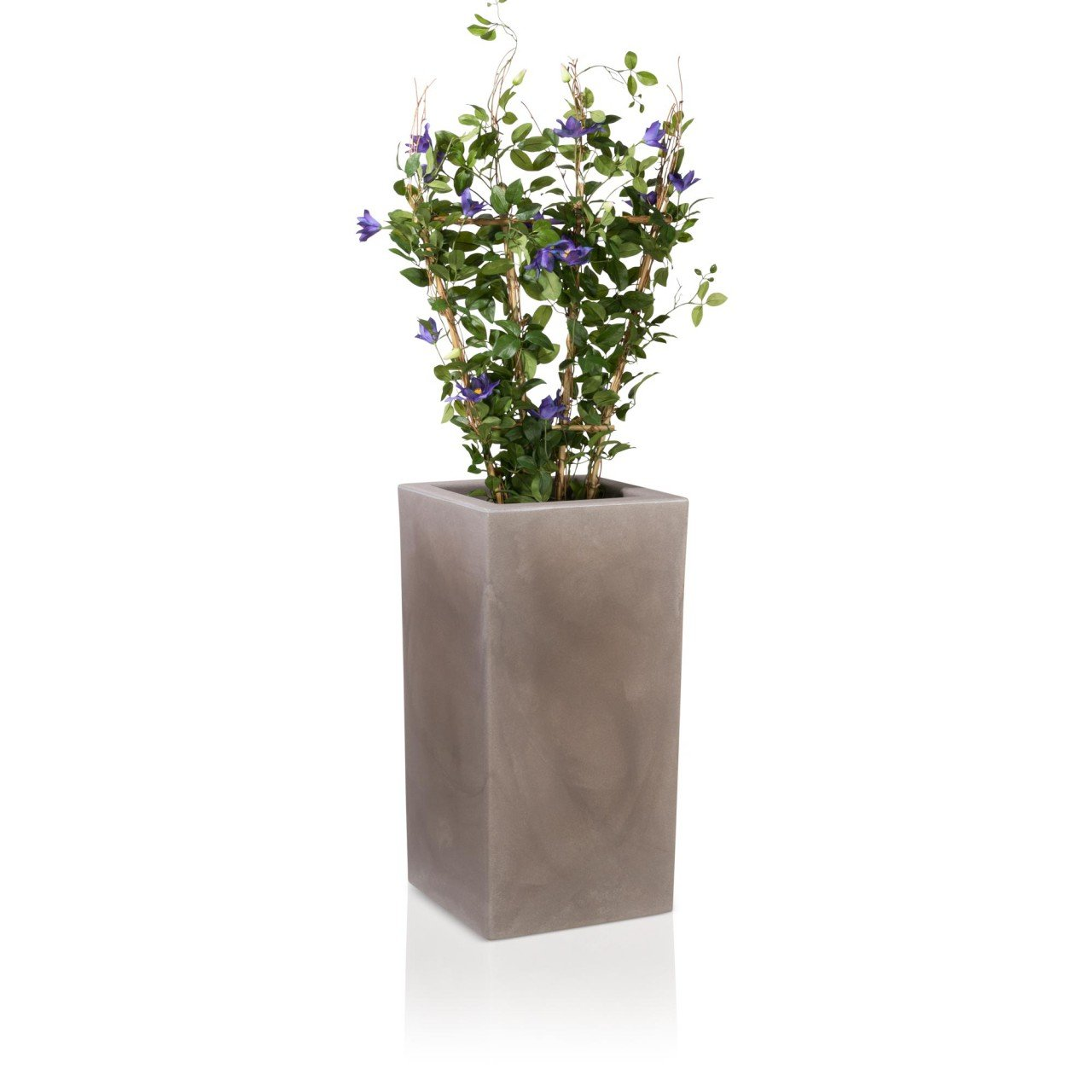pflanzk bel blumenk bel torre 80 kunststoff 40x40x80 cm beige matt g nstig online kaufen. Black Bedroom Furniture Sets. Home Design Ideas