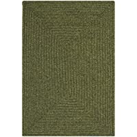 Safavieh Braided Collection BRD315A Hand Woven Green Area Rug (2 x 3)