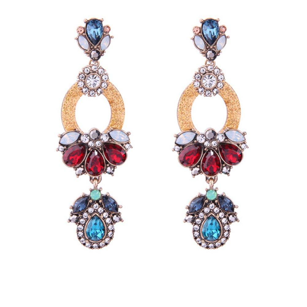 Tassel Chandelier Drop Earrings (Crystal Resin)