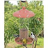 Wild Birds Feeders for Outside Squirrel Proof Stand, Pink,Villa/Garden Outdoor Decoration