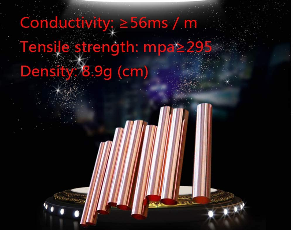 ,Diameter 6mm,1mm Thick 4 Pieces SOFIALXC Pur Copper Tube Tube DIY Rod Metal Raw Materials 500Mm Long