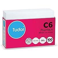 Tudor Envelopes C6 114x162 White Peel and Seal Secretive Wallet Envelopes Tray100 Retail Pack, (140009)