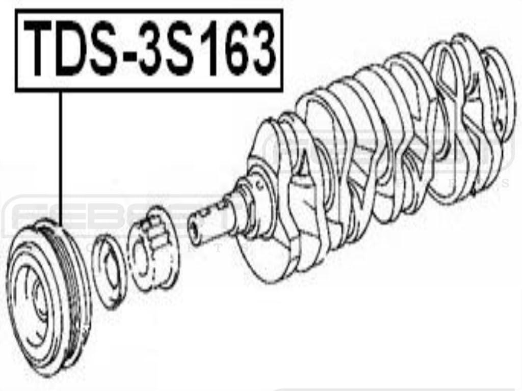 FEBEST TDS-3S163 Engine Crankshaft Pulley