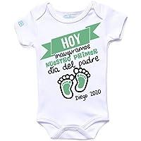 Pañalero Personalizado Bebé para Papá, Día del Padre en Manga Corta o Larga