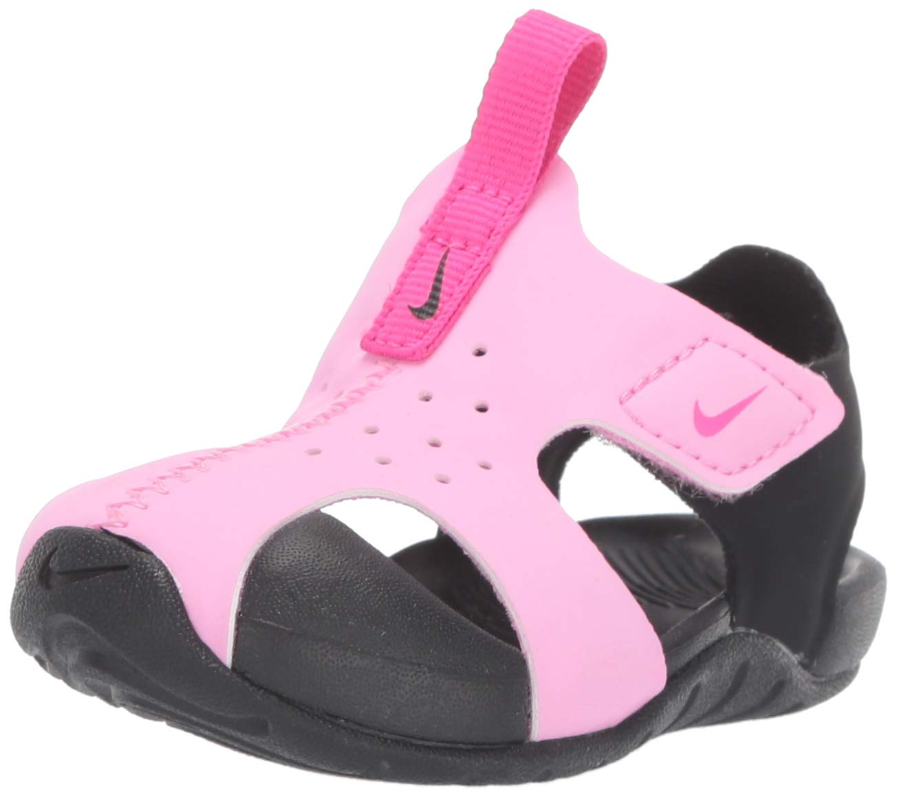 Nike Toddler Kid's Sunray Protect 2 Sandal, Psychic Pink/Laser Fuchsia/Black, 8 M US Toddler