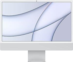 2021 Apple iMac (24-inch, Apple M1 chip with 8‑core CPU and 8‑core GPU, 8GB RAM, 512GB) - Silver