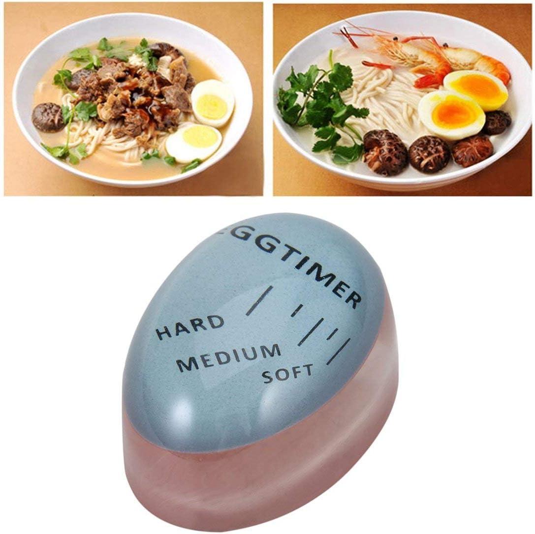 Home Kitchen Egg Timer Useful Color Changing Boiled Eggs Cooking Helper Blue