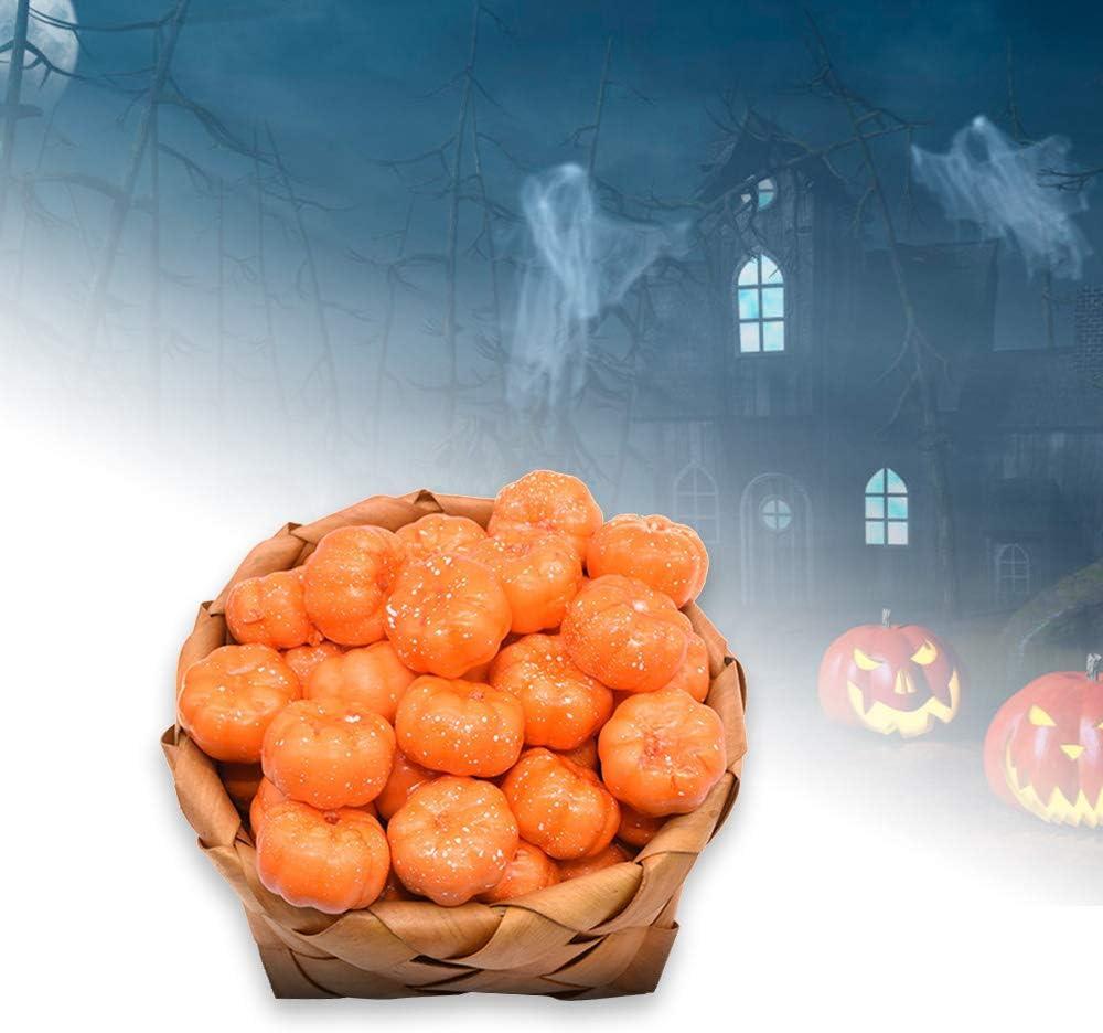 Halloween Props Home Decoration Lightweight Foam Artificial Vegetabl DIY Crafts 100Pcs 3.5cm Mini Simulation Pumpkin