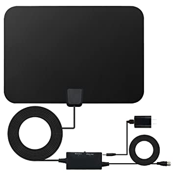 HD TV Antenna, Digital Signal HDTV Antenna 60-80 Miles Range VHF/UHF