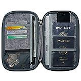 NeatPack RFID Travel Wallet, Document Organizer & Passport Holder, Grey
