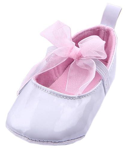 9f968d24328a7 Bigood Chaussures Chausson Bébé Fille Faux Cuir Premier Pas Marche Chic