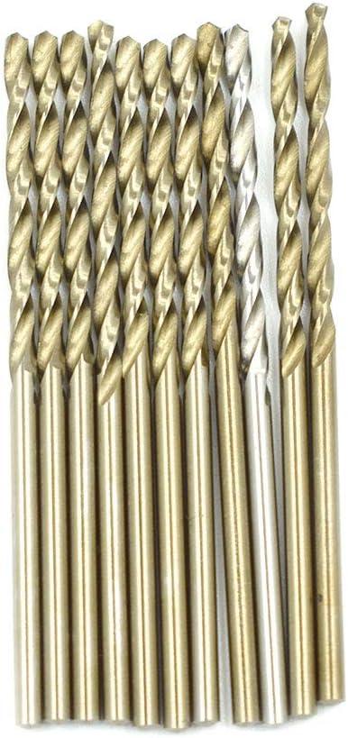 HONJIE 2mm Twist Drill Bit High Speed Steel Hole Drill Bit for Wood Soft Metal Plastic-Sliver Tone 20pcs