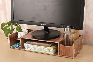 Monitor stand support de moniteur en bois multifonction bureau