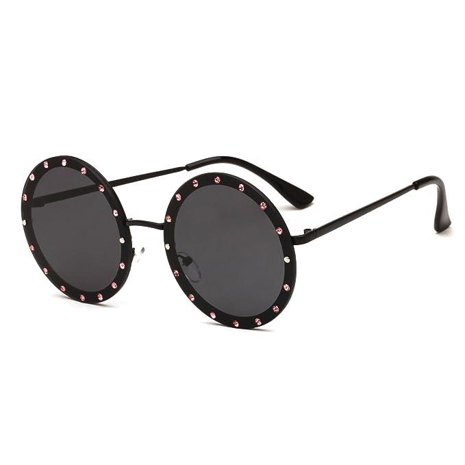 Amazon.com: Gafas de sol de metal para mujer, espejo de ...