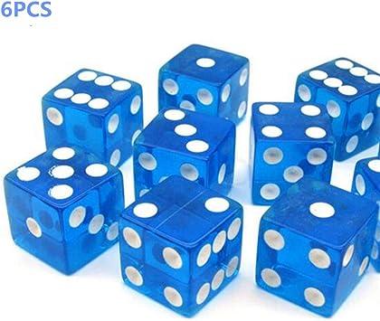 6pcs Dados 6 lados Lados puntuales de 16 mm para juegos de dados Tenzi, Farkle, Yahtzee, Bunco o Teaching Math de TheBigThumb, Azul: Amazon.es: Bricolaje y herramientas
