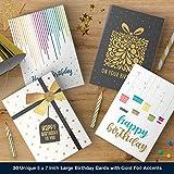 Dessie 30 Unique Happy Birthday Cards - 30 Gold