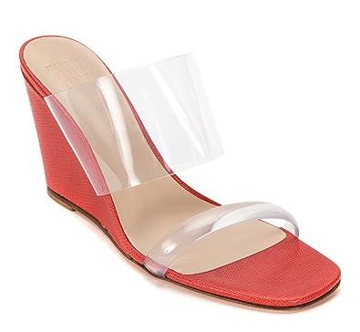 904540a5b0f Maryam Nassir Zadeh Olympia Wedge Calf Leather Slide Sandals
