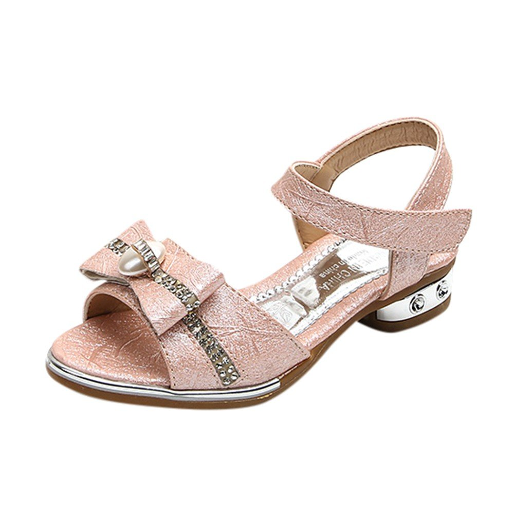 Girl Bohemian Sandals Bowknot Flat Sandals Ankle Strap Hook/&Loop Sandals Casual Summer Beach Shoes Boho Shoes for Toddler Girls
