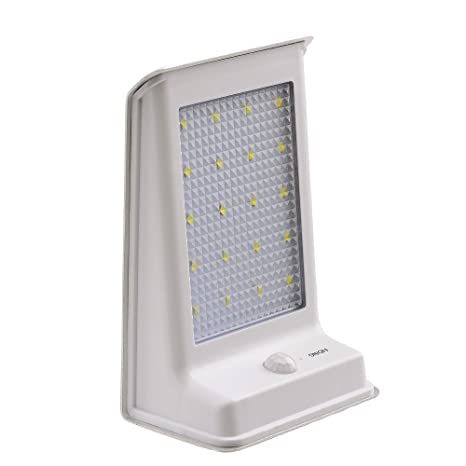 lederTEK Foco Solar con Sensor de Movimiento 20 LED Lámpara de Pared para Exterior, Patio