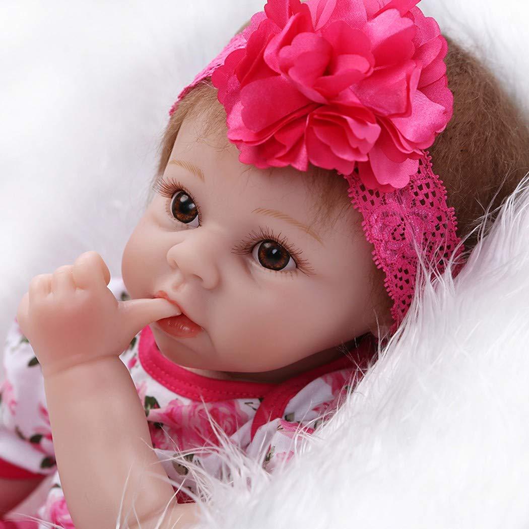 ZIYIUI 22 Reborn Muñecas de bebé Renacer de Silicona Suave Realista Real Niña Bebe Recién Nacido Muñecas Regalos Ropa bebé Reborn magneticores ...