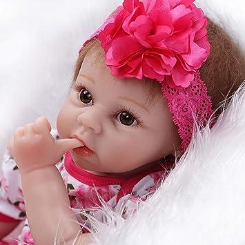ZIYIUI 22 Reborn Muñecas de bebé Renacer de Silicona Suave Realista Real Niña Bebe Recién Nacido Muñecas Regalos Ropa bebé Reborn ...