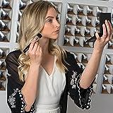 Designer Beauty Makeup Brush Set: Malika Jafrin 10 Piece Professional Kabuki Brushes For Face and Eye Blending, Contouring, Highlighting & Setting Powder - Angled, Round & Tapered Synthetic Bristles