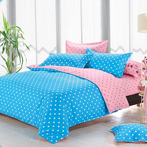 DUANFEIiocw Quilt Cover,Quilt Cover Solid Color Polka dots Plain Double Spell Single Solid Color-A 180x220cm(71x87inch) (Ribbon Dot Jacquard)