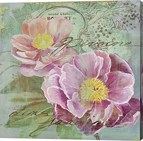 Peony Garden I by Art Licensing Studio Canvas Art Wall Picture, Gallery Wrap, 12 x 12 inches