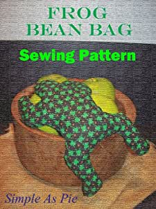 Amazon Com Frog Bean Bag Sewing Pattern Home Amp Kitchen
