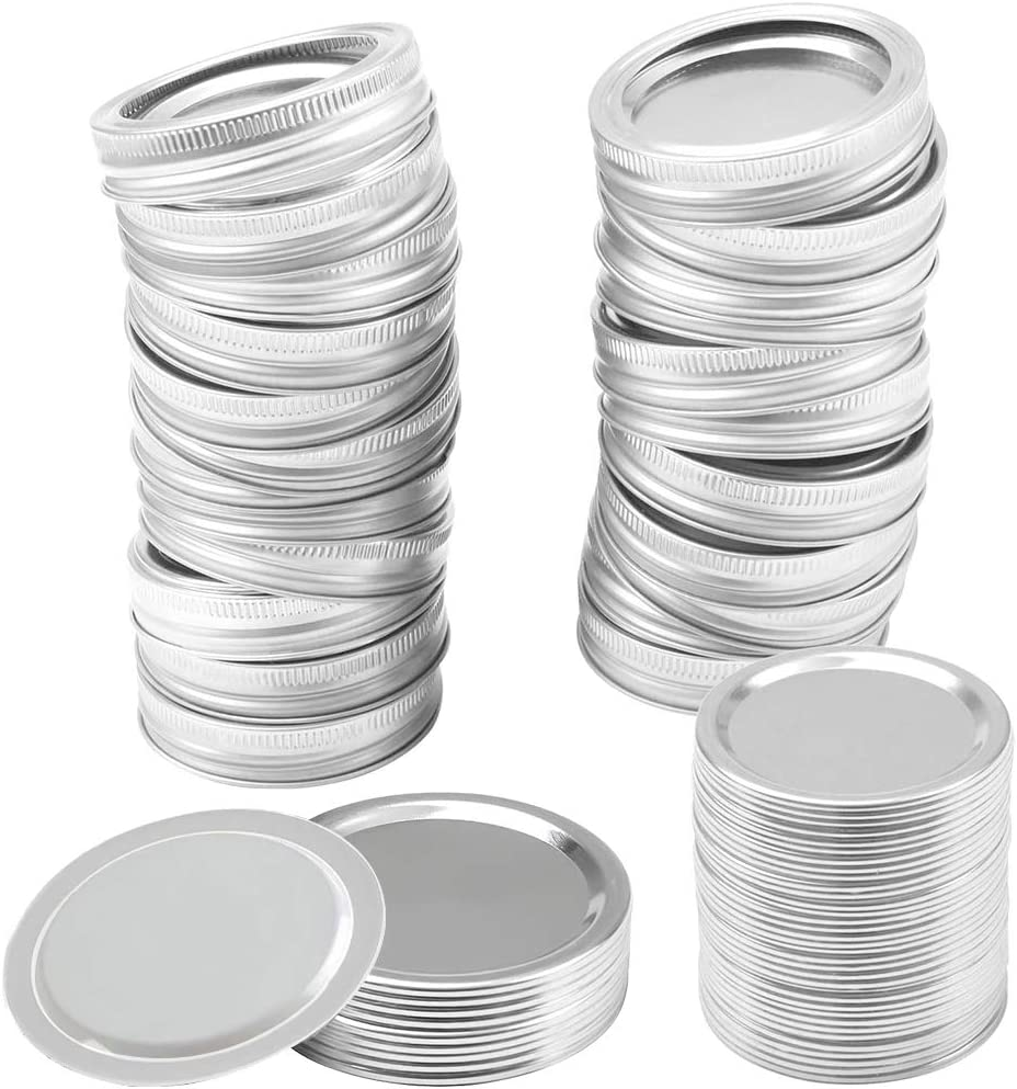 48 Pieces Canning Lids 2.75inches//70MM Swonuk Regular Mouth Mason Jar Split-Type Lids and Bands