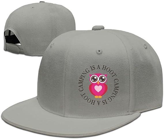 Mens and Womens Unisex Owl Hoot Classic Adjustable Baseball Cap Caps