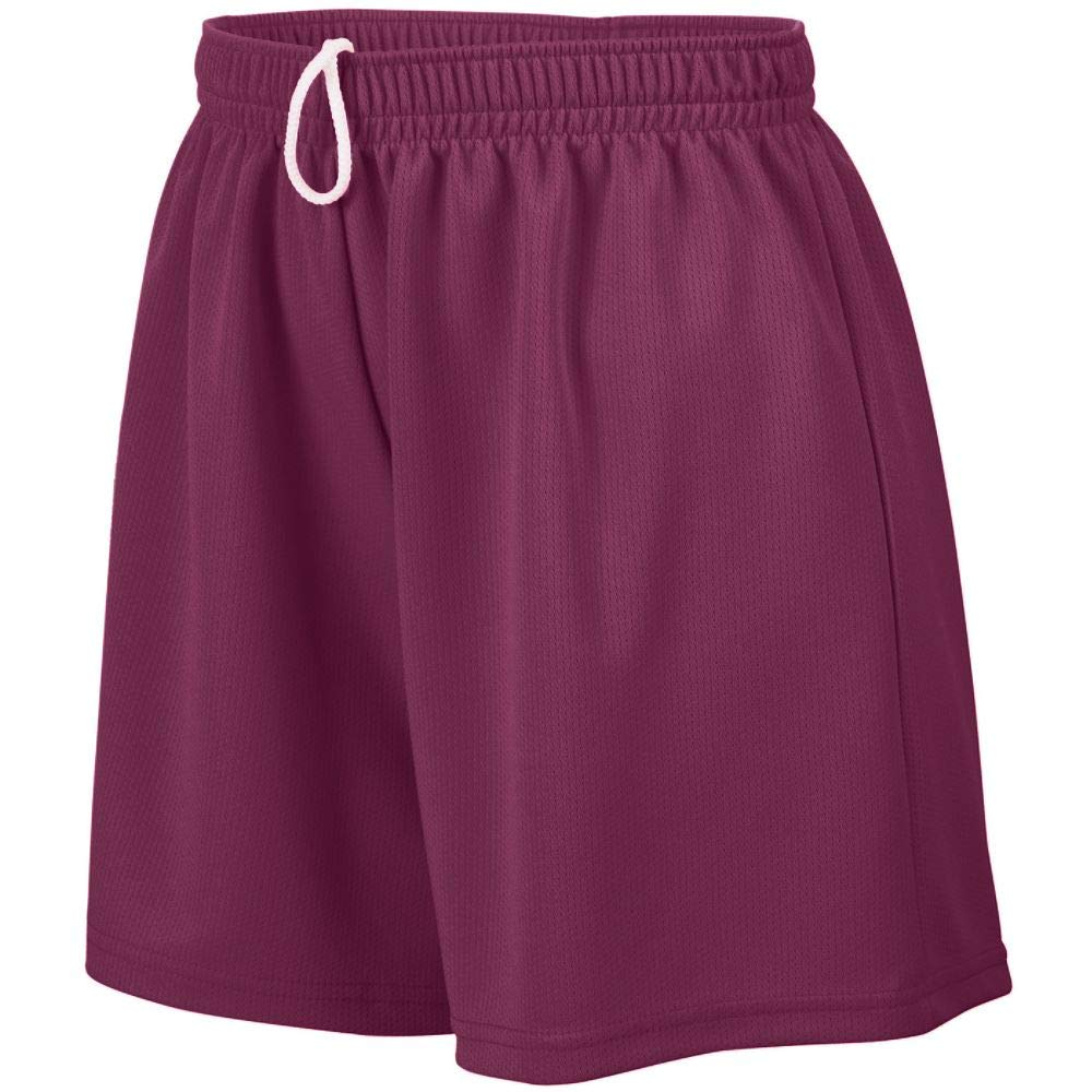 Augusta Sportswear Augusta Girls Wicking Mesh Short, Maroon, Medium by Augusta Sportswear