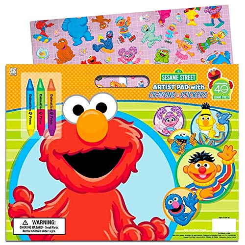 Sesame Street 7235BW, 11 x 16 Giant Coloring & Activity Book Toy, Multicolor