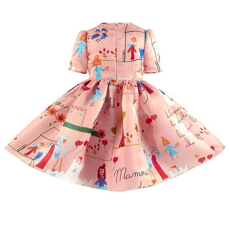 Amazon Girls Princess A Line pink playwear Mamma print Party
