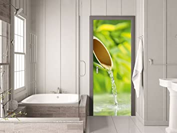 Grazdesign Türtapete Selbstklebend Wellness Klebefolie Tür