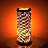 Kraftinn Decorative Bamboo Table Lamp (Brown)