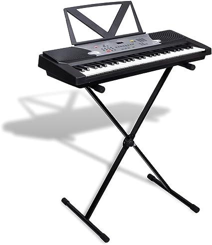 Festnight Piano Eléctrico de 54 Teclas con Atril y Soporte ...