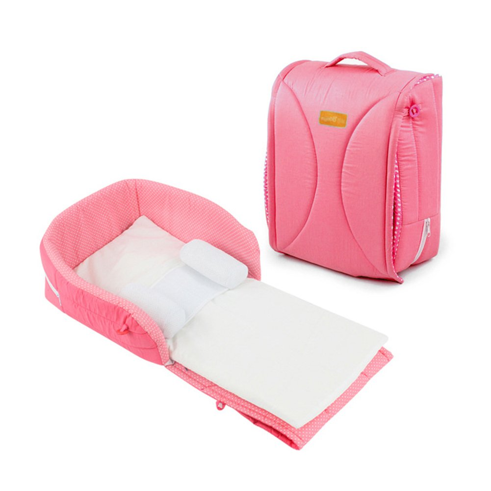 THEE Portable Travel Baby Folding Bed Handbag Outdoor