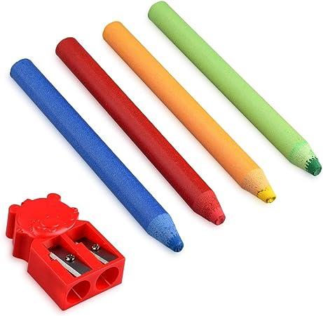 Navaris Rotuladores de tiza líquida de colores - Pack de 4x marcadores reutilizables con borrado en seco - Para escribir en cristal pizarra metal: Amazon.es: Oficina y papelería