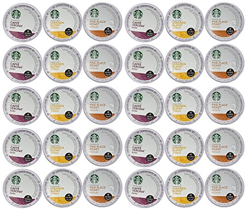 Pods Coffee Pack Variety (Starbucks Coffee K-Cups for Keurig Brewer 30 Piece Variety Pack)