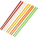 uxcell Uxcell Plastic Chinese Chopsticks 8.7 Inch Long 5 Pairs Assorted Color